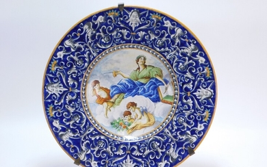 19C Italian Faience Deruta Style Charger