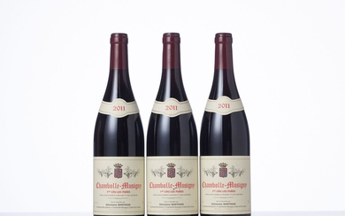 3 Bouteilles CHAMBOLLE-MUSIGNY LES FUEES (1° Cru) Année : 2011 Appellation : Domaine Ghislaine Barthod...