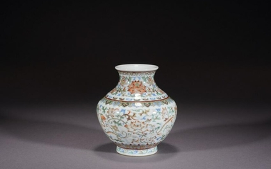 A CHINESE DOUCAI LOTUS VASE