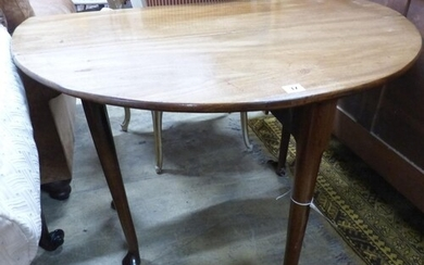 A George III mahogany oval pad foot dining table W 100 exten...
