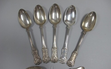 A Set of Six Scottish Hallmarked Silver Table Spoons, Mitche...