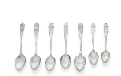 A collection of Irish silver bright-engraved flatware varying maker's (16)