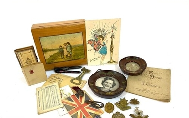 A small parcel lot of assorted items to include ephemera, a ...