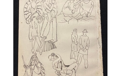 ALBERT WAINWRIGHT (1898-1943) - A study of figures including...
