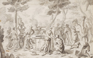Abraham and Rebecca at the Well, Follower of Nicolas Poussin