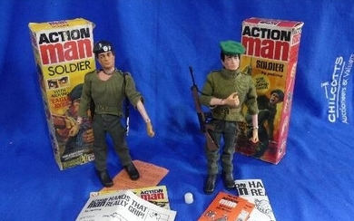 Action Man; A boxed 1970's 'Soldier now with Gripping Hands'...