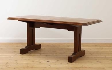 An Art Deco mahogany 'Token Works' dining table