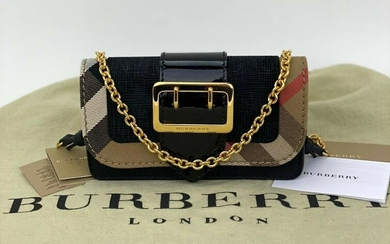 Burberry Buckle Embossed Suede Leather Mini Phone