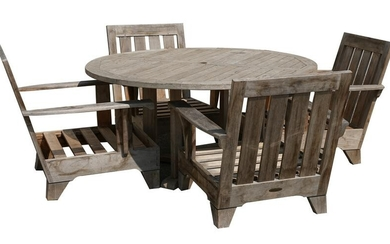 COLLECTION OF TEAK PATIO FURNITURE