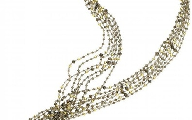 Colored Diamond, Gold Necklace Stones: Faceted