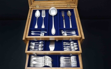 Cutlery set, 157- piece Full Cutlery Set (157) - .800 silver - Clementi Fabbrica Argenteria - Italy - 1944-1968