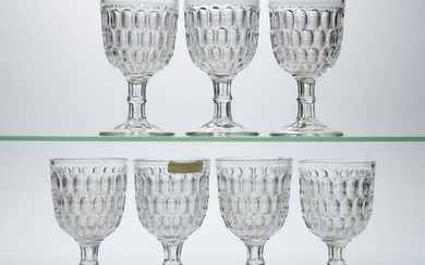 EARLY THUMBPRINT / ARGUS (OMN) LARGE GOBLETS, LOT OF