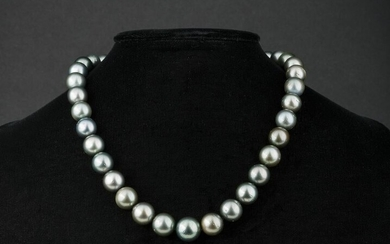 Gold and Tahitian Pearl Necklace
