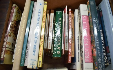 Group of Books on Needlework, Quilts, and Textiles