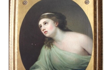 MANNER OF GEORGE ROMNEY (1734-1802) PORTRAIT OF A LADY Depic...