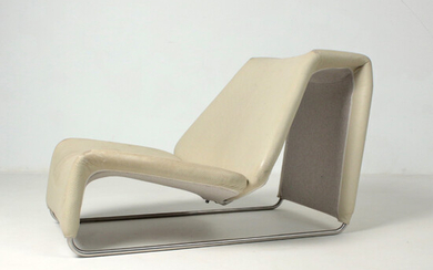 """PATRICIA URQUIOLA. Leather relax armchair / chaise longue model """"Lazy"""" for B&B ITALIA."""