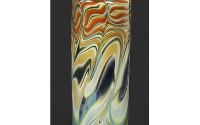 PETER LAYTON - CONTEMPORARY GLASS VASE a large cylindrical v...