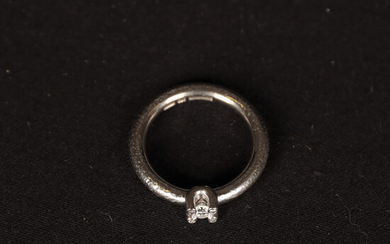 RING 18K white gold with diamonds. Total weight 8. 3 g.