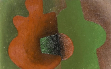 Serge Charchoune, Russian/French 1889-1975- Jade et Coral, 1926; oil on...