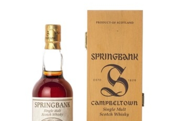 Springbank 34 Year Old for Lateltin Lanz Ingold AG 47.1 abv 1966 (1 BT70)