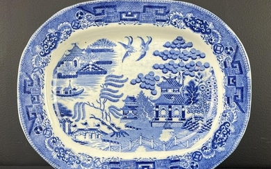 Staffordshire Blue and White Platter Charger