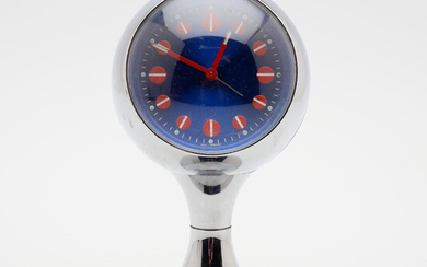 TABLE CLOCK, plastic, Blessing, W. Germany, 1970s.