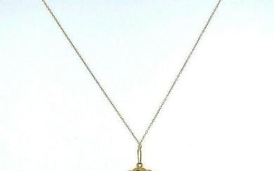 Yellow Gold Pearl Cameo Necklace