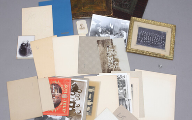 A Collection PHOTOGRAPHS, i. a. with photo albums, mostly from Blekinge.
