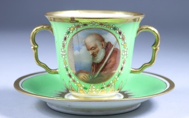 A Flight, Barr & Barr Porcelain Cabinet Cup and...