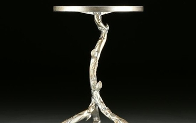 """A GIACOMETTI STYLE SILVER PAINTED METAL """"TREE"""