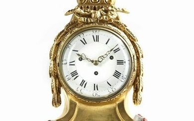 A GILT WOODEN TABLE-CLOCK, FRANCE, SOUTH-GERMANY OR