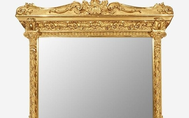 A Large Classical Giltwood Overmantel Mirror Circa 1825