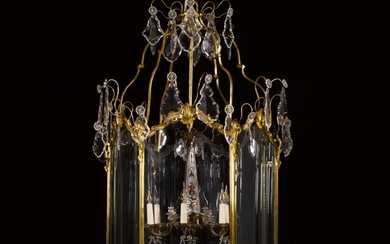 A Louis XV style gilt-bronze hall lantern, late 19th century