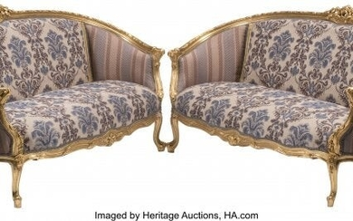 A Pair of French Louis XV-Style Carved Gilt Wood