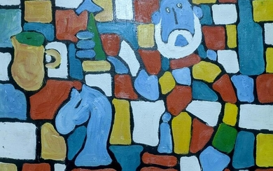 Abstract oil painting No vocals without a glass Boyko