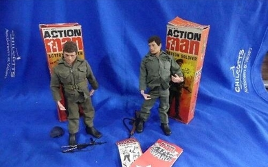 Action Man; A pair of boxed 'Action Soldier' figures, both w...