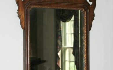 Antique Chippendale Style Mahogany Framed Mirror