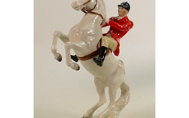 Beswick Huntsman on a Rearing Horse, model 868, rare painted...