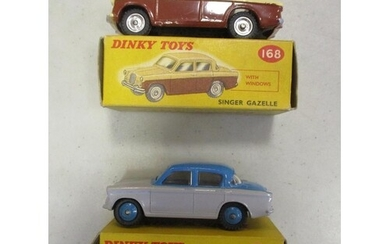 Dinky. Collection of cars with Singer Gazelle No 168 brown o...