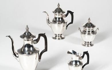 French Four-piece Sterling Silver Coffee and Tea Service