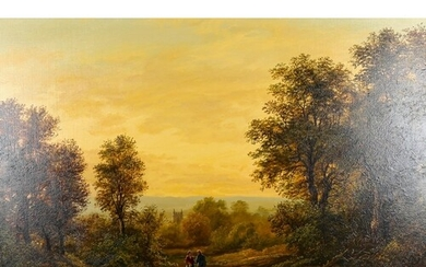 G Walmersley, oil on canvas, a country road, signed, 60cm x ...