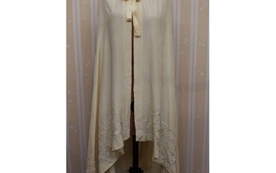 Late 19th/early 20th century silk cape with Chinese embroide...