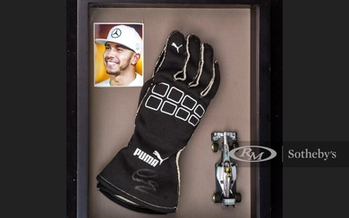 Lewis Hamilton Race Worn and Signed Gloves