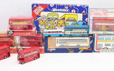 Lot details One box of buses by various makers,...