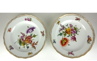 MEISSEN, A PAIR OF LATE 19TH/EARLY 20TH CENTURY HARD PASTE P...