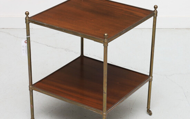 Mallett style two-tier occasional table