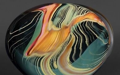 PETER LAYTON - CONTEMPORARY GLASS VASE possibly from the Gre...