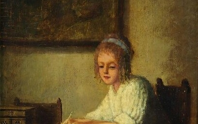 """Painting """"young woman reading"""""""