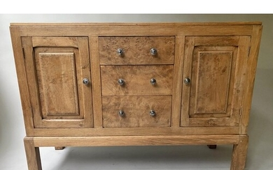SIDEBOARD, early 20th century, George V, solid burr oak, wit...