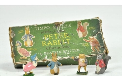 Timpo Beatrix Potter Peter Rabbit Set complete with Peter Ra...